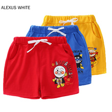 Summer Children Cartoon Bread Superman Cotton Shorts For Boys Girls Toddler Panties Kids Beach Shorts Sports Pants Baby Clothing baby boys girls cloth diapers summer baby girls boy cotton bread pants bloomers briefs shorts panties underwear