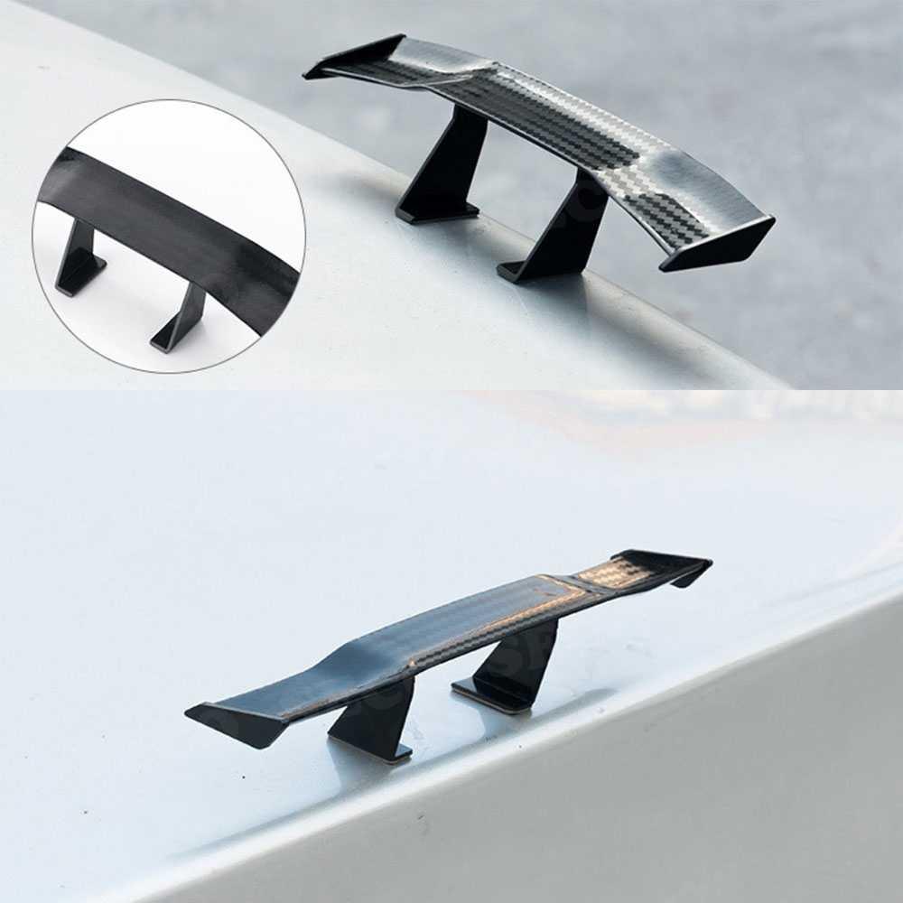 סיבי פחמן אריג מראה GT סגנון מיני מירוץ אחורי קטן כנף ספוילר אתחול קישוט עבור BMW E46 F10 עבור פולקסווגן פאסאט אוניברסלי רכב