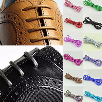 1 Pair Reflective Shoe Laces Waxed Martin Boots Shoelace Gold Silk Pearl Light Round Shoelaces Fluorescent Sneaker Shoestrings image