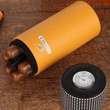 Travel Humidor Jar Hygrometer Cigar-Case Cedar Wood Portable Fit-5