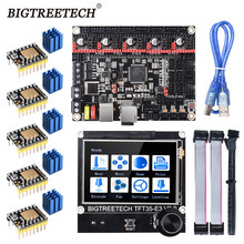 Bigtreetech btt skr v1.4 skr v1.4 turbo 32 bit placa de controle tft35 e3 v3.0 tmc2209 2208uart driver atualização skr v1.3