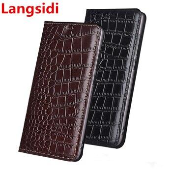 Funda de cuero con tapa magnética de lujo lanssidi para Asus Zenfone 5 Lite ZC600KL/Zenfone 5Z ZS620KL Funda de cuero