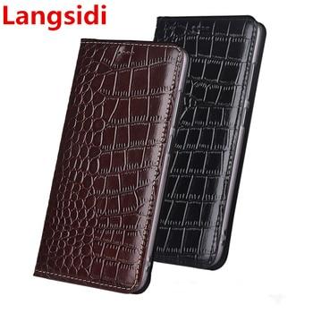 Langsidi luxury genuine leather magnetic flip case card holder for Asus Zenfone 5Z ZS620KL/Zenfone 5 2018 ZE620KL leather cover