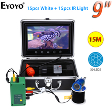 Eyoyo 9 дюймов 1000TVL подводная камера для рыбалки инфракрасный рыболокатор 15 шт. Белый светодиодный+ инфракрасная лампа эхолот ecoscandaglio