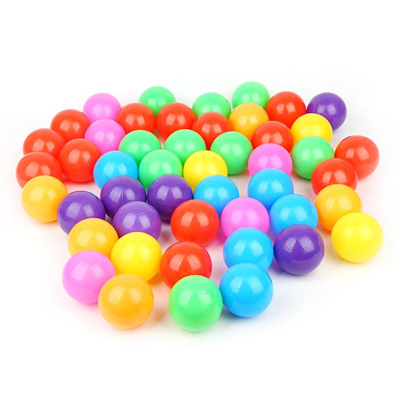 10pcs Random Color Baby Toys Ocean Balls For Play Plastic Phthalate-free Toy Crush-proof Pit Soft Dry Swim Balls Pool Non-t T0K1