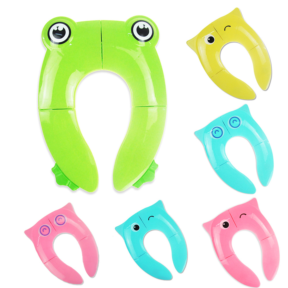 Kids Travel Folding Potty Seat Pad Portable Baby Toddler Toilet Training seat Cover Cushion Children Pot Chair Pad