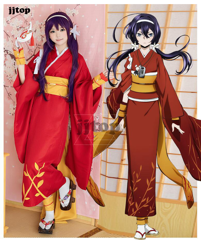 Bungo Stray Dogs Akiko Yosano Uniform Set Anime Cosplay Costume Halloween