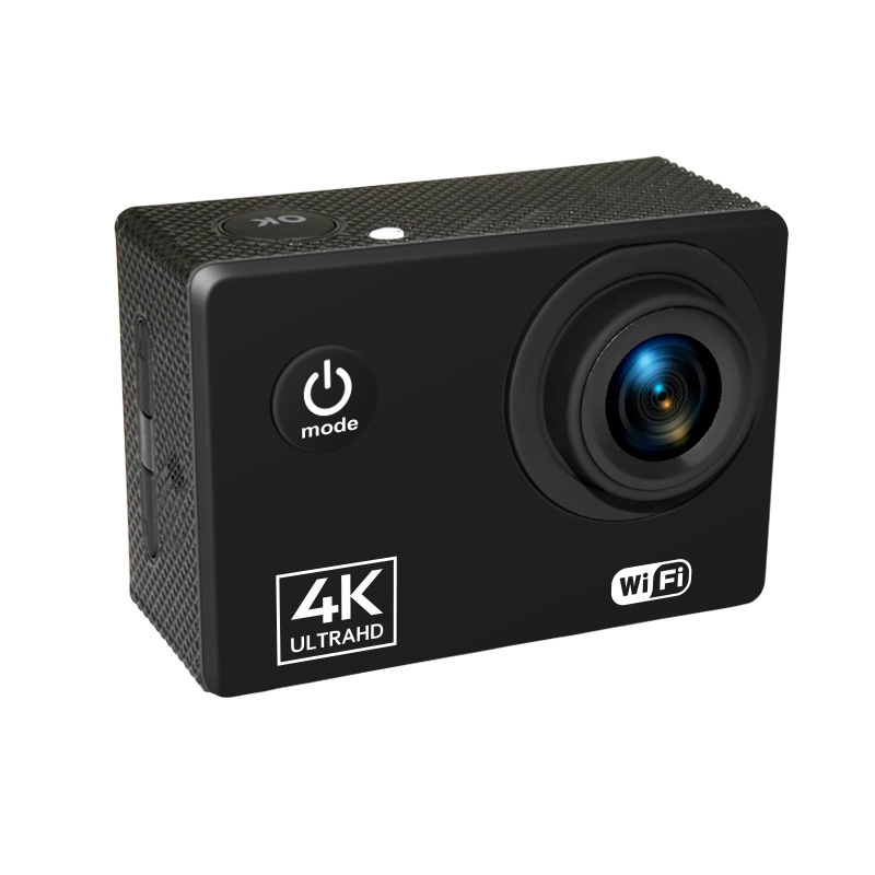 Action Camera 4K/60FPS WIFI 24MP Ultra HD Mini Helmet Cam with 2.0 Inch IPS Screen WiFi Waterproof Sports Camera