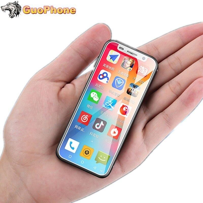 Маленький смартфон Super Mini Melrose 2019, 4G Lte, 3,4 дюйма, четырёхъядерный процессор MTK6739, Android 8,1, сканер отпечатка пальца, 2000 мАч