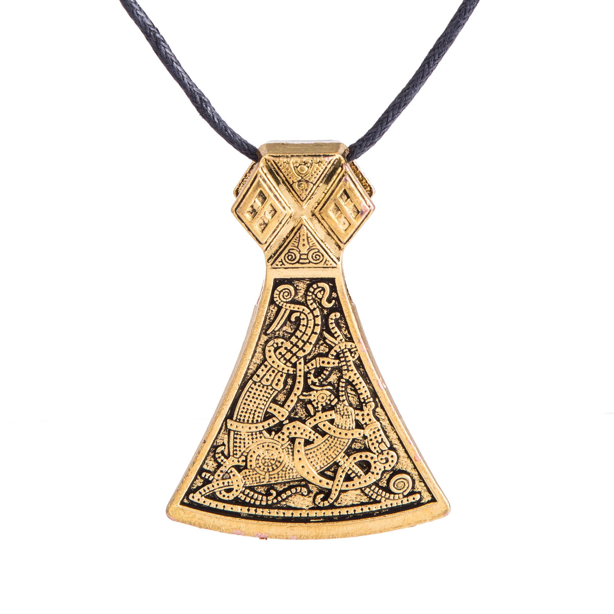 รูปร่างของฉัน Slavic Thor ค้อนขวานไวกิ้ง Perun จี้สร้อยคอไวกิ้ง Amulet ผู้ชายและผู้หญิงเครื่องประดับ