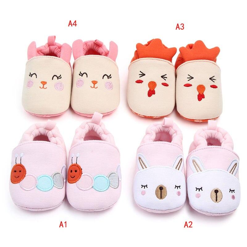 Autumn Baby Cotton Prewalker Soft Bottom Anti Slip Baby Shoes Infant Toddler Cartoon Shoes Christmas Soft Sole Anti-slip Sneaker