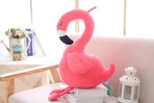 Cute Flamingo Doll Decor Party Plush Pillows Soft Toy Stuffed Animal Cartoon Children Gift Home Sofa Christmas Kawaii