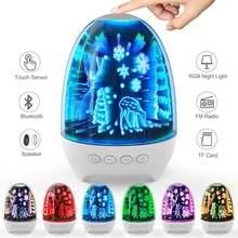 Беспроводной bluetooth аудио светодиодный ночсветильник smart