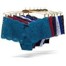 3pcs/lots Sexy Panties Underwear Women Lace Seamless Panty Plus Size Briefs Transparent Ropa Interior Femenina Lady Underpants