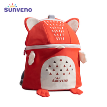 New SUNVENO Toddler  Baby Harness Backpack Cute Baby Backpack School Bags Fashion Children Backpacks 3D Animal Prints mochila sunveno оранжевый