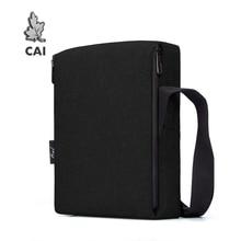 CAI 32cm Classic Messenger Shoulder Bag for Office Men Flap