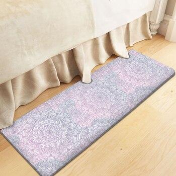 Alfombra-Alfombra Rectangular de franela para decoración de dormitorio y sala de estar,...