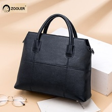 Hot&New Genuine leather bags women ZOOLER 2019 luxury brand handbags designer black tote high quality #WP319
