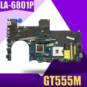 Para For DELL Alienware M14x R1 placa base P18G LA-6801P CN-0KNF1T 0KNF1T...