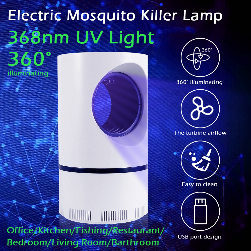 Silent and Comfortable Electric Mosquito Killer Lamp with Strong Suction Suitable for Mother and baby 2