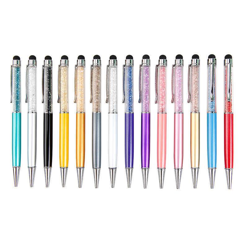14 צבעים קריסטל כדורי עט אופנה יצירתיים Stylus Wathet מגע עט עבור כתיבת משרד מכתבים & בית ספר שחור מילוי