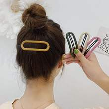 Fashion Oval Candy Color Hairpins Women Lady Hair Clips Pin Barrette Accessories For Girls Hair Ornament Tool Hairgrip Headdress