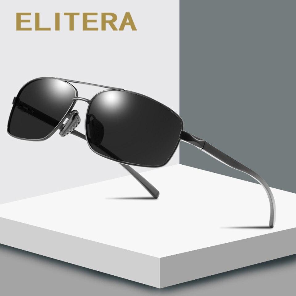 ELITERA Aluminum Polarized Sunglasses Men Driving Sun Glasses Male Goggle UV400