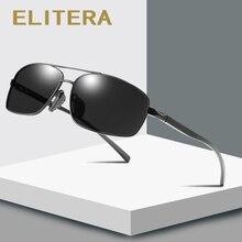 Мужские водительские очки ELITERA, поляризационные солнцезащитные очки из алюминиево магниевого сплава, 3 цвета, аксессуары