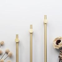 2PCS Long Gold Brass Cabinet Handles Wardrobe Kitchen Cupboard Pulls Drawer Knobs Door Furniture Handle Hardware GF51