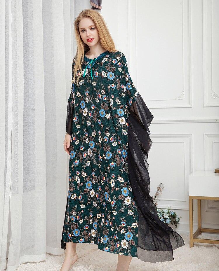 Yomrzl S014 women's spring autumn female modal sleeves fashion nightdress nightgown
