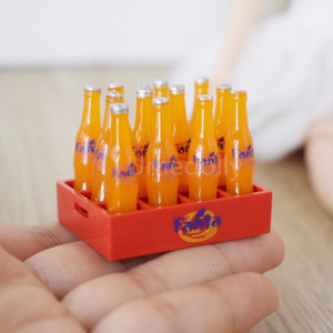 Image 5 - 1 Set 12pcs Mini Coke Drinks 1/12 Dollhouse Miniature Food Doll Drinks Play Kitchen Toy Fit Ob11 Accessories