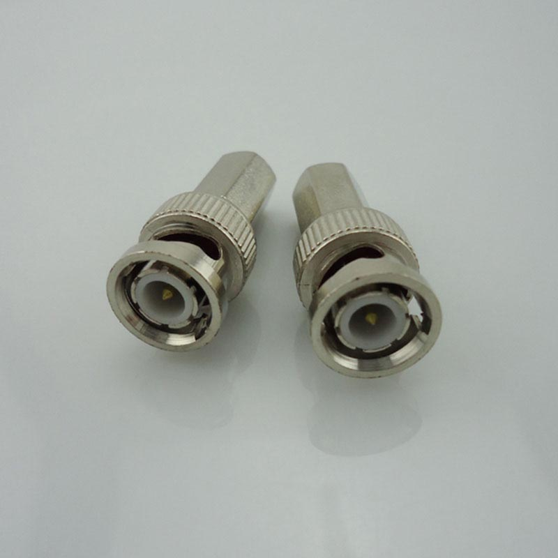 100Pcs Bnc Connector Male For Twist-On Coaxial RG58/RG59/RG60 Cable For Surveillance System Cctv Video Camera Accessories J17