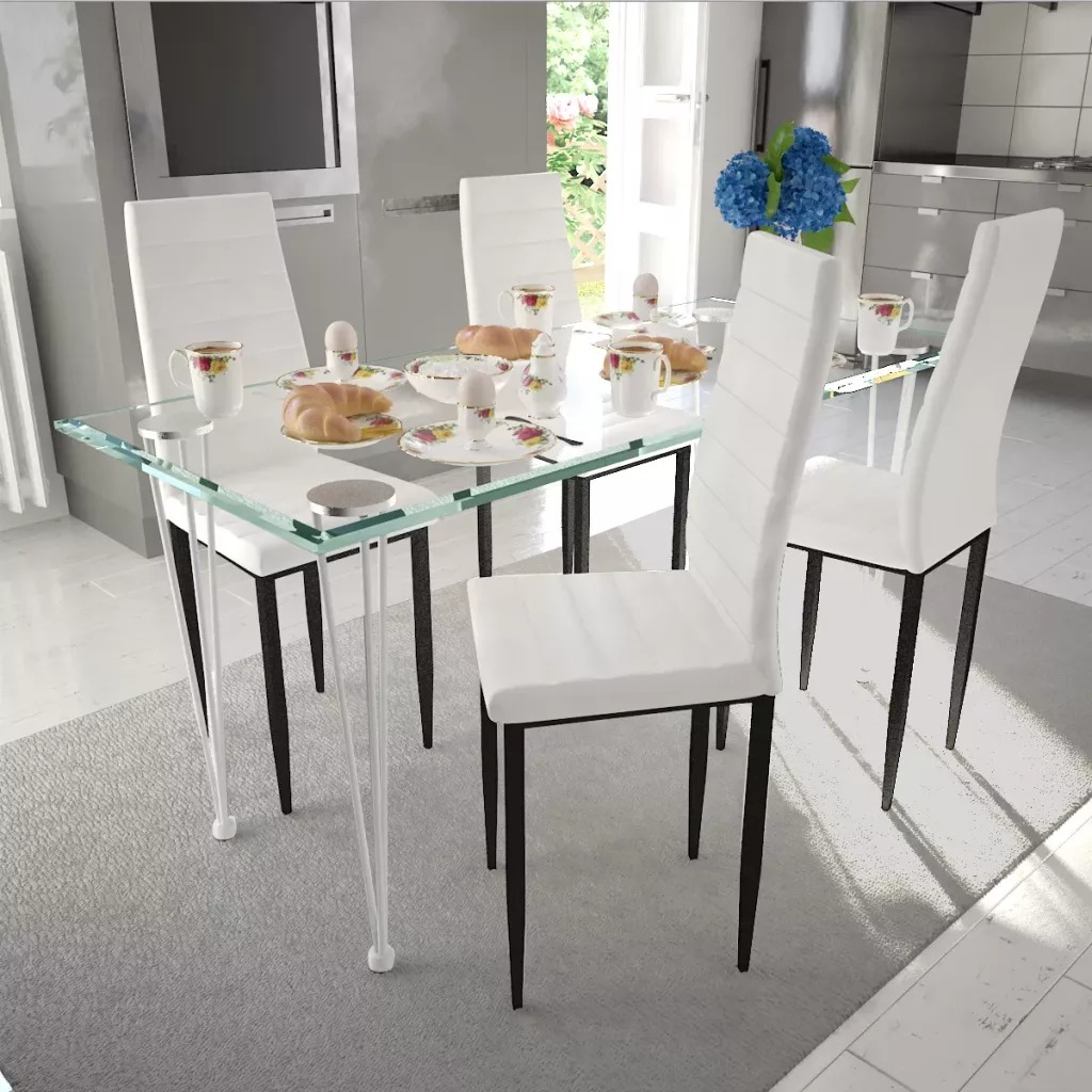 4 PCS Dining Chairs American Home Ins Chairs Net Red Nordic Dining Table And Chair Fine Design White Brown Black