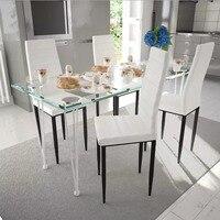 4 PCS Stühle American Home Ins Stühle Net Rot Nordic Esstisch Und Stuhl Feine Design Weiß Braun Schwarz v3-in Esszimmerstühle aus Möbel bei