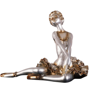 Nordic Ballet Dancer Statue Creative Resin Character Sculpture Ornament Room Desktop Decoration Home Decoration Accessories