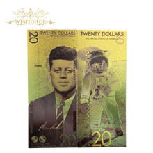 New America Banknotes 20 Dollar Banknotes in 24k Gold Plated Fake Money Gold Plated Business Gift