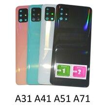 Für Samsung A31 A41 A51 A71 A50 4G Hinten Gehäuse Zurück Abdeckung Original Telefon Chassis Zurück Panel Tür Mit kamera Objektiv + Adhesive