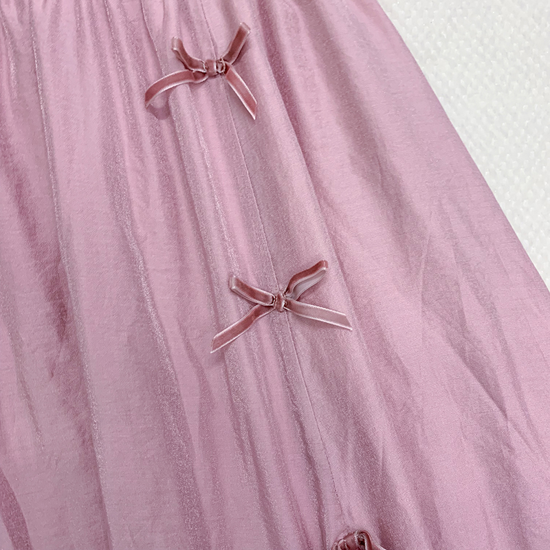 Милые юбки в стиле Лолиты в национальном стиле; юбка с разрезом и высокой талией для лета; удобные и универсальные розовые юбки для женщин; HJS018 - 4