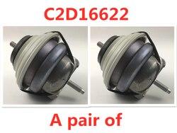C2D16622 silnik samochodowy uchwyt montażowy XJ XJL XFL XF XE F PA CE XJLjag uar2.0L zawieszenie silnika stała mata poduszka w Mocowania do silnika od Samochody i motocykle na