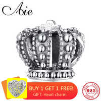 Fashion luxury DIY gift queen crown 925 Sterling Silver fine beads Fit Original Pandora Charm Bracelet Jewelry making
