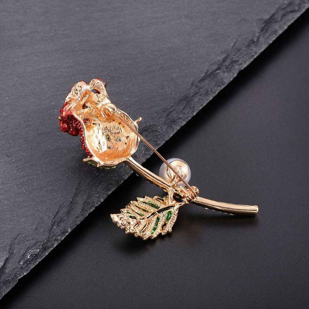 Bros Bunga Mutiara Imitasi Mawar Buket Romantis Pesona Lencana Perjamuan Syal Pin Fashion Pakaian Aksesoris 1 Pc