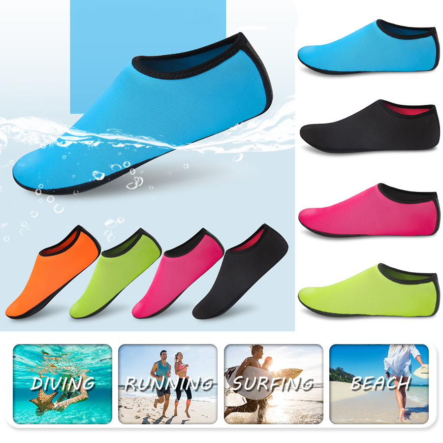 Breathable Beach Upstream Water Sport Anti-skid Socks Underwater Swimming Fins Snorkeling Diving Surfing Non-slip Shoes D40