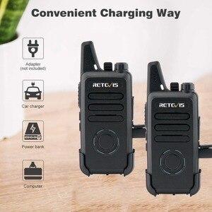 Image 4 - RETEVIS Walkie Talkie RT22S, 2 uds. Retevis RT22S, estación de Radio bidireccional portátil, VOX, carga USB, pantalla oculta para viajes de senderismo
