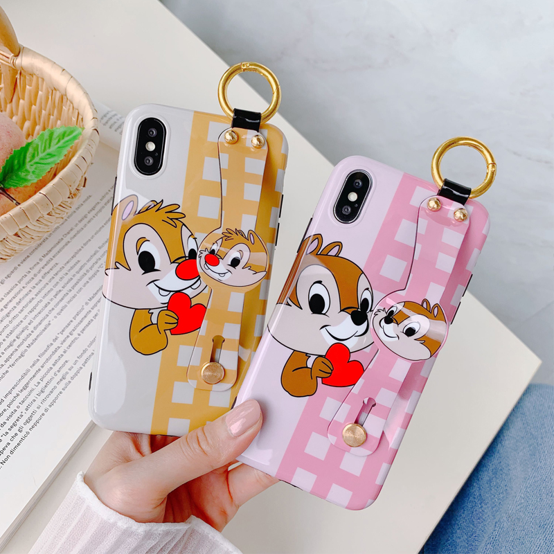 Gykz Cartoon Chip Dale Wristband Phone Case For Iphone 6 6s 7 Xs Max Xr X 8 Plus Squirrel Soft Imd Back Cover Stand Fundas Coque Fitted Cases Aliexpress
