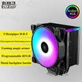 5V 3PIN RGB Процессор кулер 5 тепловыми для компьютеров AMD/AM4/INTEL 775/1150/1151/1155/1156/2011 (12 см); охлаждающий вентилятор