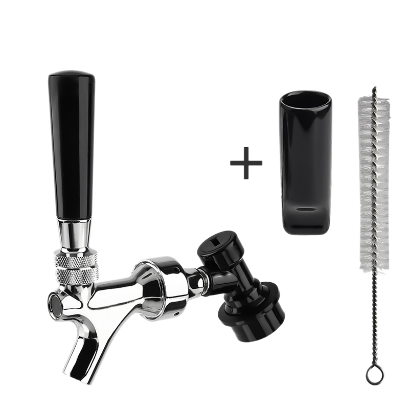 ABSS-Craft Beer Tap Faucet with Gas Ball Lock Quick Disconnect Kit Home Brewing DIY Beer Soda Kit image
