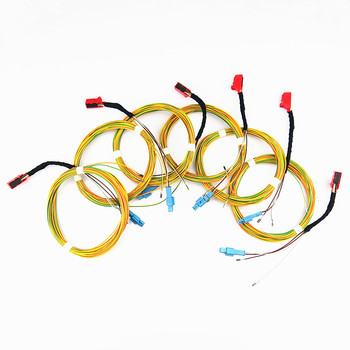 SCJYRXS 6Pcs Car Parking Button OPS Automatic Radar Switch Connector Cable Harness Plug 1TD927122 1TD 927 122 For Golf MK6