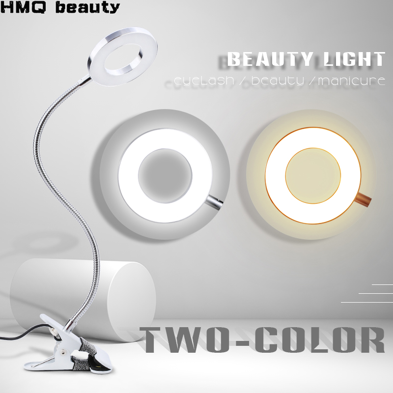 LED eyelash extension light beauty light cold and warm two-color eye protection shadowless light spe