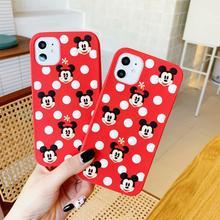 Милый мультяшный чехол для телефона с Микки и Минни Маус для iPhone 11, 6, 6 S, 7, 8 Plus, X, XR, XS Max, мягкий силиконовый чехол, чехол