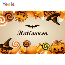 Yeele Halloween Horror Photocall Pumpkin Candy Witch Photography Backdrop Personalized Photographic Backgrounds For Photo Studio